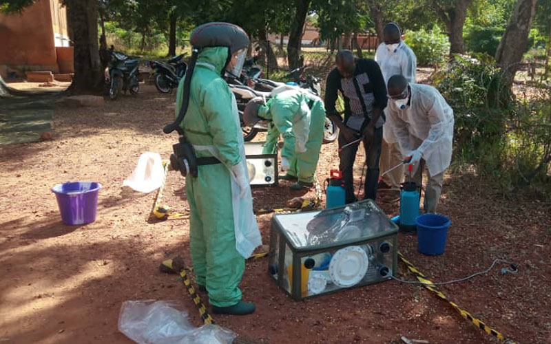 Mobile laboratory deployment exercise in Burkina Faso to strengthen biosecurity capacities of G5 Sahel countries